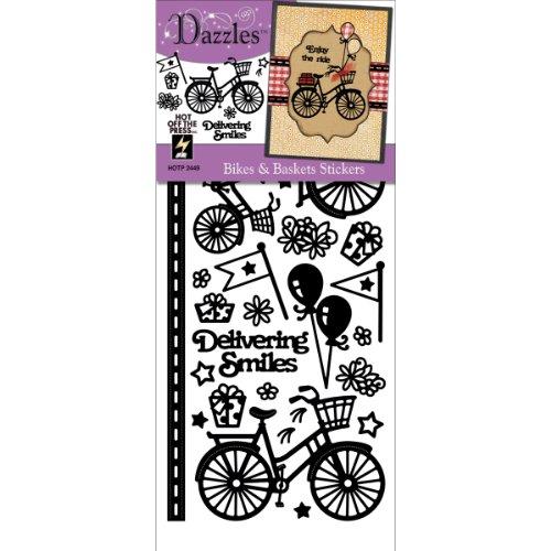 Stickers Dazzle Stars (Hot Off The Press Bikes and Baskets Dazzle Decorative Sticker, Black)