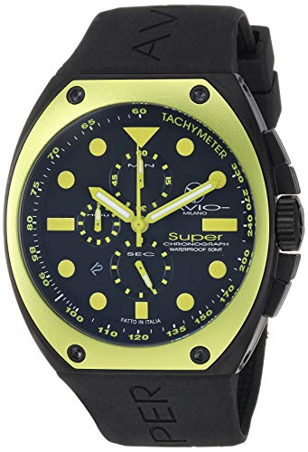 Men's SA BK 2003 Super Tonneau Black PVD Steel Case Aluminum Interchangeable Bezel Luminous Chrono Tachymeter Watch