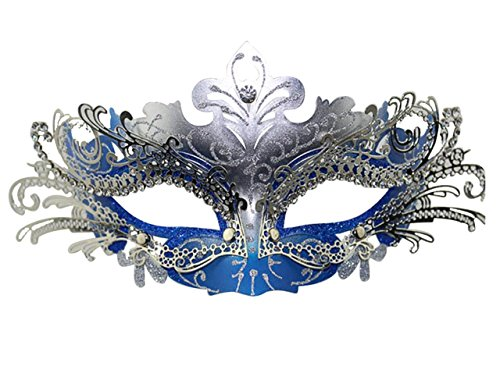 Masquerade Mask Fancy Dress Costume Party Face Masks Metal Rhinestones ()