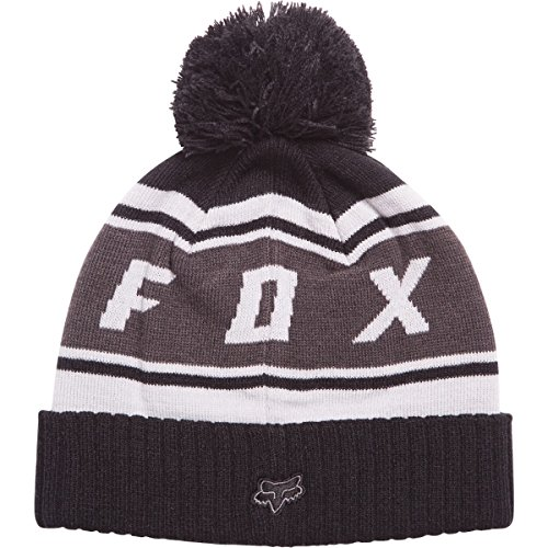 Fox Racing Mens Black Diamond Pom Beanie Hats One Size Black (Fox Beanie For Men)