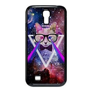 Galaxy Hipster Cat Use Your Own Image Phone Case for SamSung Galaxy S4 I9500,customized case cover ygtg550298