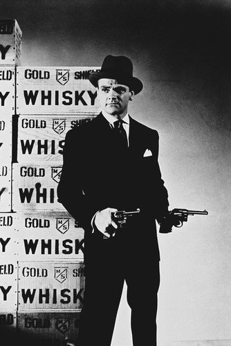 James Cagney Iconic Guns Whisky Pose 24X36 Poster Silverscreen