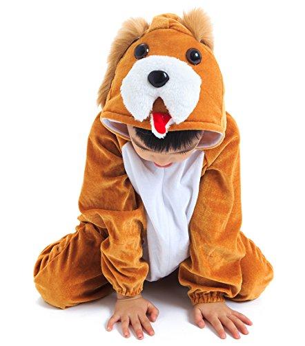 Astage Kids Animal Halloween Cosplay Onepiece Pajamas Outfit Homewear Robes Safari Costume (Safari Robe)