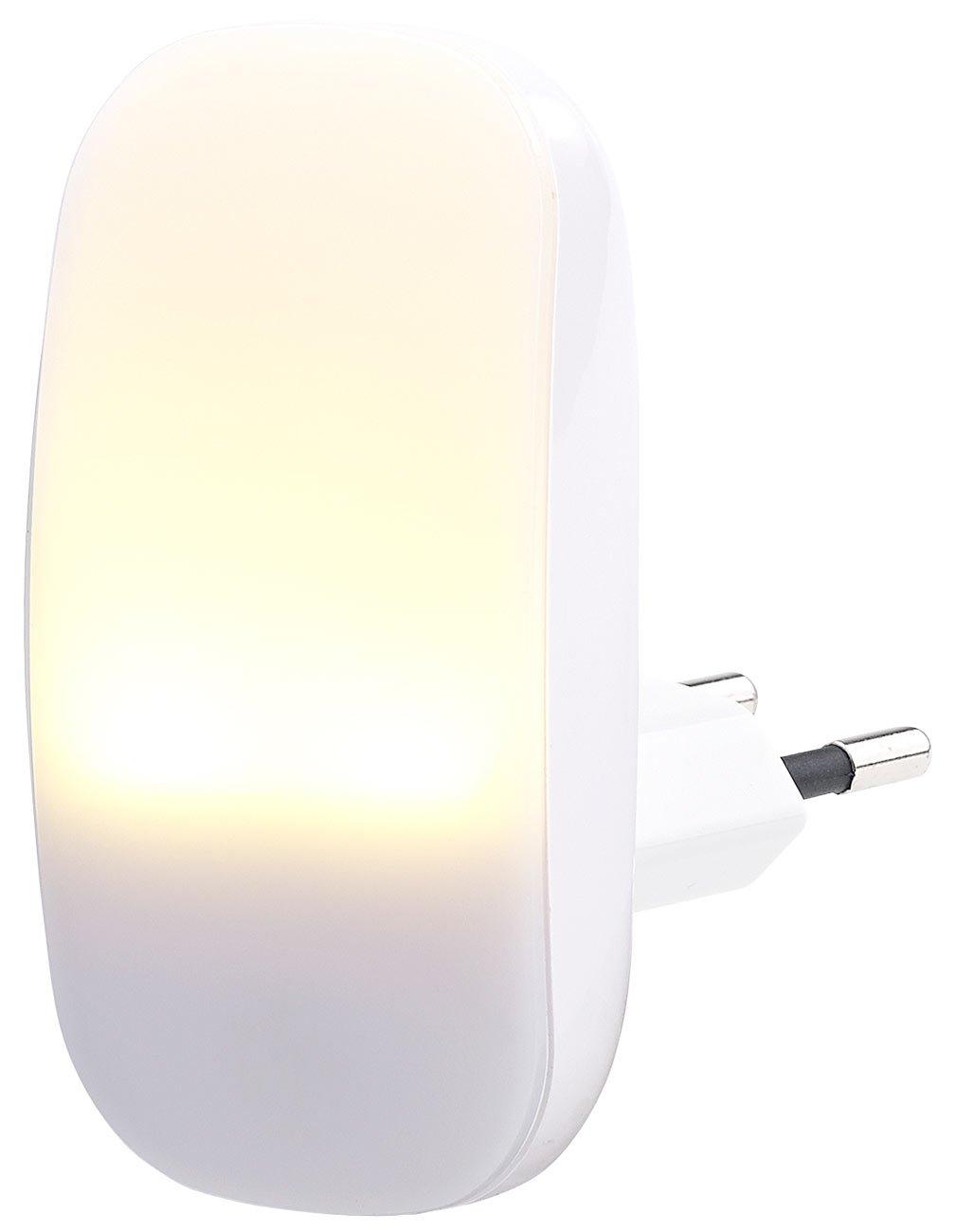 Lunartec Nachtlampe: Kompaktes LED-Steckdosen-Nachtlicht, Dämmerungssensor, 1 lm, 0,25 W (Nacht-Licht) Dämmerungssensor