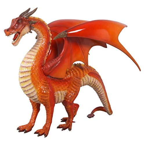 (Design Toscano The The Red Welsh Dragon Statue, Full Color)