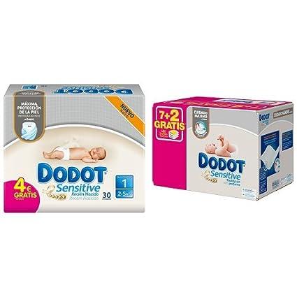 Dodot - Pack Sensitive - 30 Pañales Para Recién Nacido + 486 Toallitas