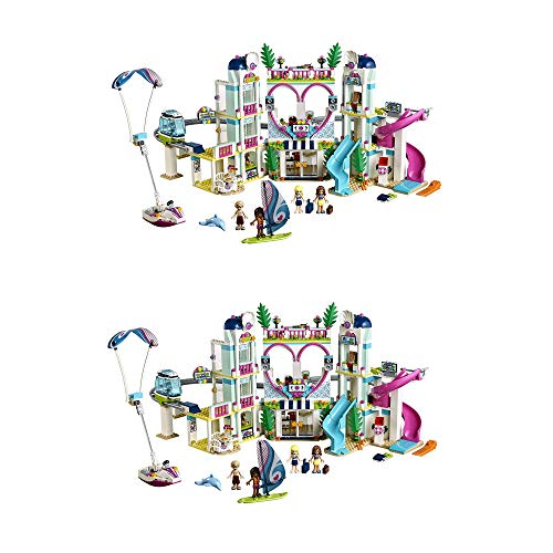 LEGO Friends 41347 Heartlake City Waterpark Resort with 4 Mini-Doll Figures (2 Pack)]()