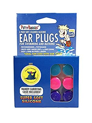 Putty Buddies Original Swimming Earplugs - The Best Swimming Ear Plugs - Block Water - Super Soft - Comfortable - Great for Kids - 3-Pair Pack