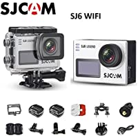 SJCAM SJ6 Legend Dual Screen 2″ LCD Touch Screen 2880×2160 Novatek NT96660 Panasonic MN34120PA CMOS 4K Ultra HD Sport DV Action Camera Silver+extra 1 battery