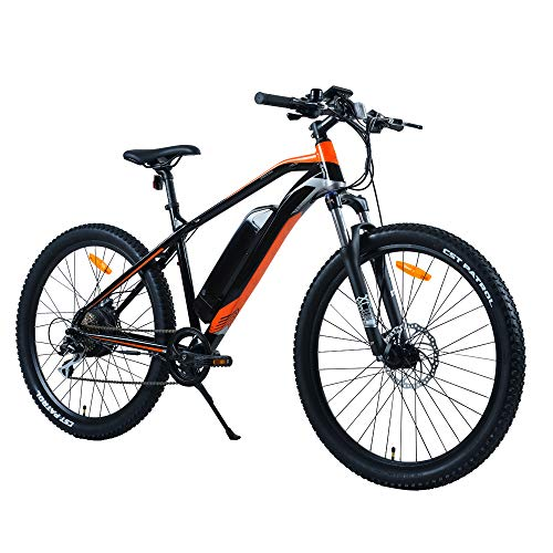 Decorlife Electric Mountain Bike 27.5'' Wheel Ebike 48V Lithium-Ion Battery, Electric Bicycle 500W Powerful Motor, Shimano 8 Speed Gear