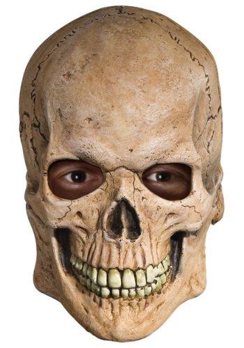 Rubie's Costume Deluxe Overhead Skull Mask,Tan, One Size - Rubie's Costume Deluxe Overhead Skull Mask