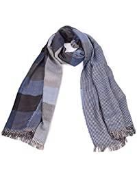 Men's Scarf, Classical Tartan Plaid Grid Tassels Scarf, Spring Autumn Winter Muffler Neckerchief for Men Boys