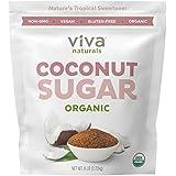 Viva Naturals Organic Coconut Sugar, 6 Pound Bag - Non-GMO, Low-Glycemic Sweetener