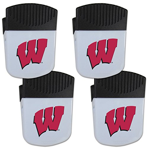- Siskiyou NCAA Wisconsin Badgers Chip Clip Magnet with Bottle Opener, 4 Pack