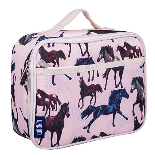 Lunch Box, Wildkin Lunch Box, Insulated, Moisture Resistant, and Easy to Clean with Helpful Extras for Quick and Simple Organization, Ages 3+, Perfect for Kids or On-The-Go Parents – Horse Dreams