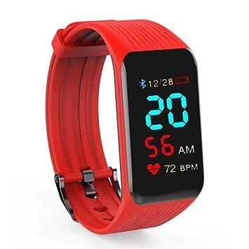 UTHDELD Smartwatch K1 Rastreador de Actividad Hombres Deporte Moda Reloj Inteligente HR Recordatorio de Llamada Pulsera Inteligente Banda en Tiempo Real ...