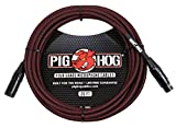 Pig Hog PHM20BRD High Performance Black & Red Woven XLR Microphone Cable, 20 ft.