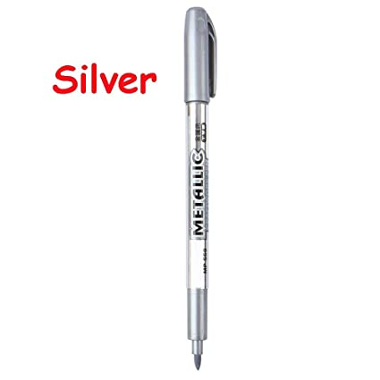 fe2e179f833 Amazon.com   forone Student Gold Silver Art Craft Drawing Writing Paint  Marker Pen Metal Color 1.5mm Refill   Office Products