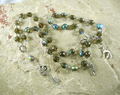 Hekate (Hecate) Prayer Beads: Greek Goddess of Magic and Witchcraft, Night and the Darkness, and Protection of the Home and - Goddess Prayer Beads