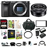 Sony a6500 Mirrorless ILC Camera w/16-50mm f/3.5-5.6 Zoom Lens Bundle