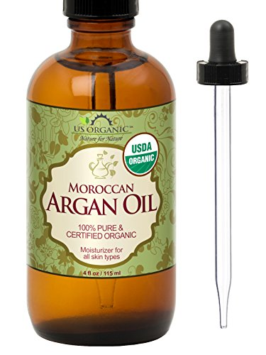 US Organic Moroccan Argan Oil, USDA Certified Organic,100% Pure & Natural, Cold Pressed Virgin,...