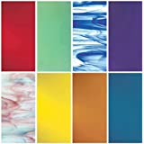 "iDichroic Spectrum System 96 COE Compatible Fusible Glass Pack, 8 Deluxe 6"" x 6"" Sheets"