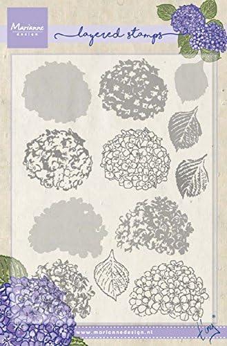Marianne Design Sellos Transparentes plastico Tulip/án 125x190 para Manualidades de Estampado y Sellado