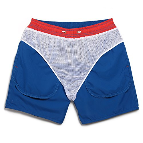 Maamgic Mens Quick Dry Short American Flag Swim Trunks