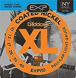 .010-.046 Regular Light Gauge Electric Guitar Strings, EXP Coated, Nickel-plated Steel