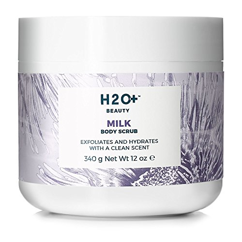 511J1AsMh9L H2O+ Beauty  Moisturizing Milk Body Scrub, Skin Softening Exfoliator, with Moringa Oil and Milk Thistle extract,  12 Ounce