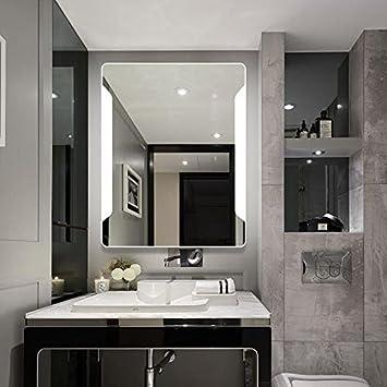 24u0026quot; X 32u0026quot; Bathroom Wall Mirror Fensalir Backlit Wall Mounted LED Lighted  Bathroom Slivered