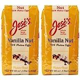 Jose's Vanilla Nut Whole Bean Coffee 3 lb. Bag 2-pack