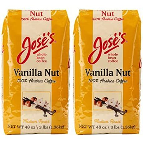 Jose S Vanilla Nut Whole Bean Coffee 3 Lb Bag 2 Pack