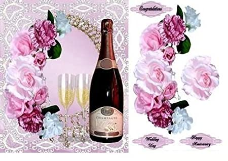 Wedding//anniversary with Decoupage /& Tag by Wendy Jones