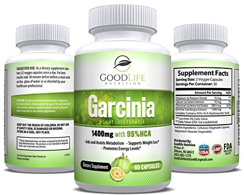 Pure Garcinia Cambogia - 95% HCA Extract Natural Appetite ...