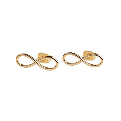 25399892af0b LuckyLy – Aretes Mujer Infinity – Aretes Infinito Oro o Plata – Estructura  Ligera – Baño de Oro o Plata – Regalo Mujer Original