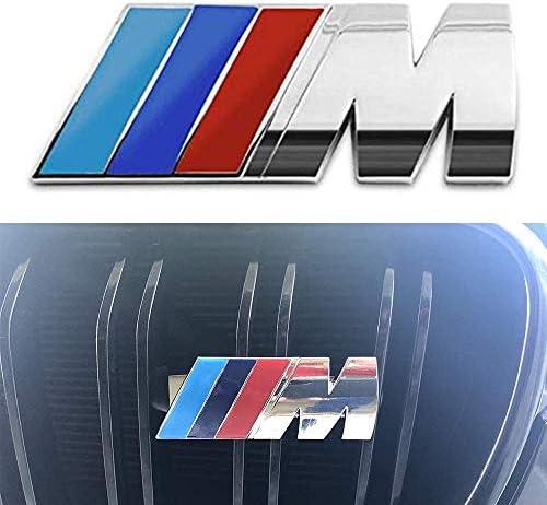 MAXDOOL M Front Grille Emblem 3D Metal Power Car Front Grille Chrome Badge Fashion Logo for BMW M3 M5 X1 X3 X5 X6 E36 E39 E46 E30 E60 E92
