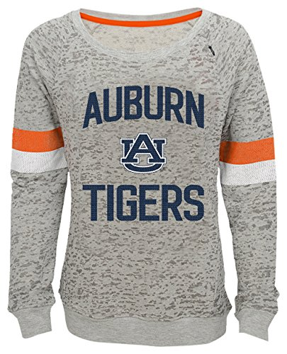"NCAA by Outerstuff NCAA Auburn Tigers Youth Girls ""My City"" Boat Neck Pullover, Heather Grey, Youth Large(14)"