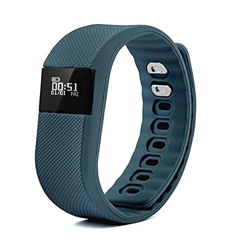 Activity Tracker,NewYouDirect Fitness Tracker Smart Watch Smart Band Wireless Bluetooth Sleep Monitor Wristband Running Pedometer Exercise for Android 4.3 IOS 7.0(Blue-Gray)