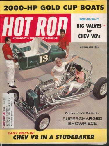 Hewlett Packard Rod - HOT ROD 2000-HP Gold Cup Boats Chevy V8 Big Valves Studebaker 10 1959