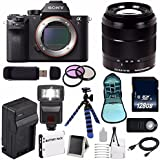 Sony Alpha a7R II Mirrorless Digital Camera (International Model no Warranty) + Sony E-Mount SEL 1855 18-55mm Zoom Lens (Black) + 49mm 3 Piece Filter Kit 6AVE Bundle 9
