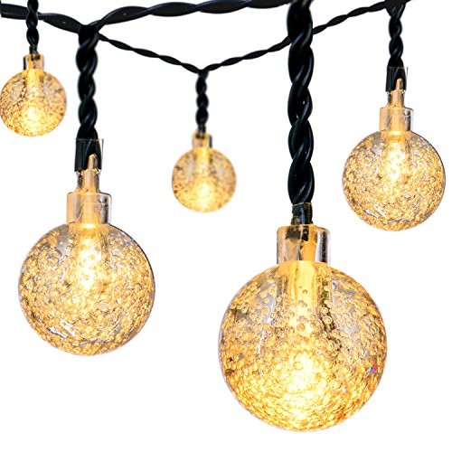 DecorNova 20 Feet 30-LED Outdoor Fairy Lights Solar Powered Globe String Lights,Multi Colors by DecorNova