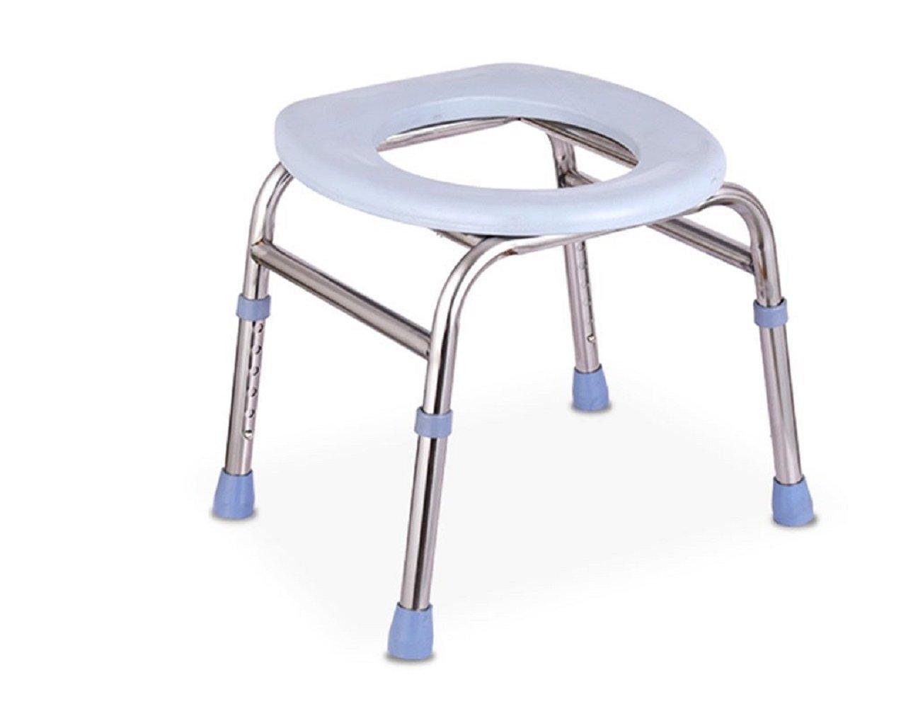 老人の椅子厚い鋼管それは移動することができます妊婦Commode便利で快適で安定した高さ調節可能 B07CNKY8N4