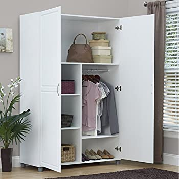 Amazon Com Solid Closet Storage Wardrobe Armoire Cabinet