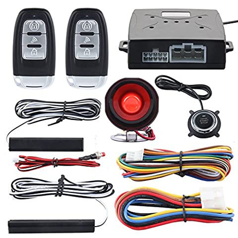 EASYGUARD EC003 Smart Key PKE Passive Keyless Entry Car Alarm System engine start button Remote Engine Start Universal (Remote Cylinder)