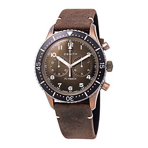Zenith Pilot Cronometro Tipo CP-2 Flyback Chronograph Automatic Bronze Grained Dial Men's Watch 29.2240.405/18.C801