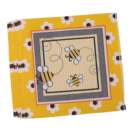s Disposable Paper Honeybee Napkins Birthday Party Tableware Christening Decoration ()