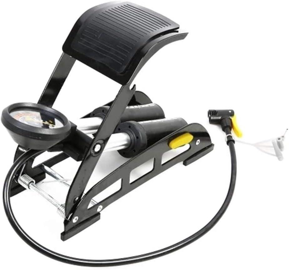 Chyuanhua Bomba De Bicicleta Antideslizante Bomba de Aire Inflable Bicicletas con Precisa Indicador de presión de aleación de Aluminio de la Bicicleta MTB Coche de la Motocicleta Apto para Bicicletas