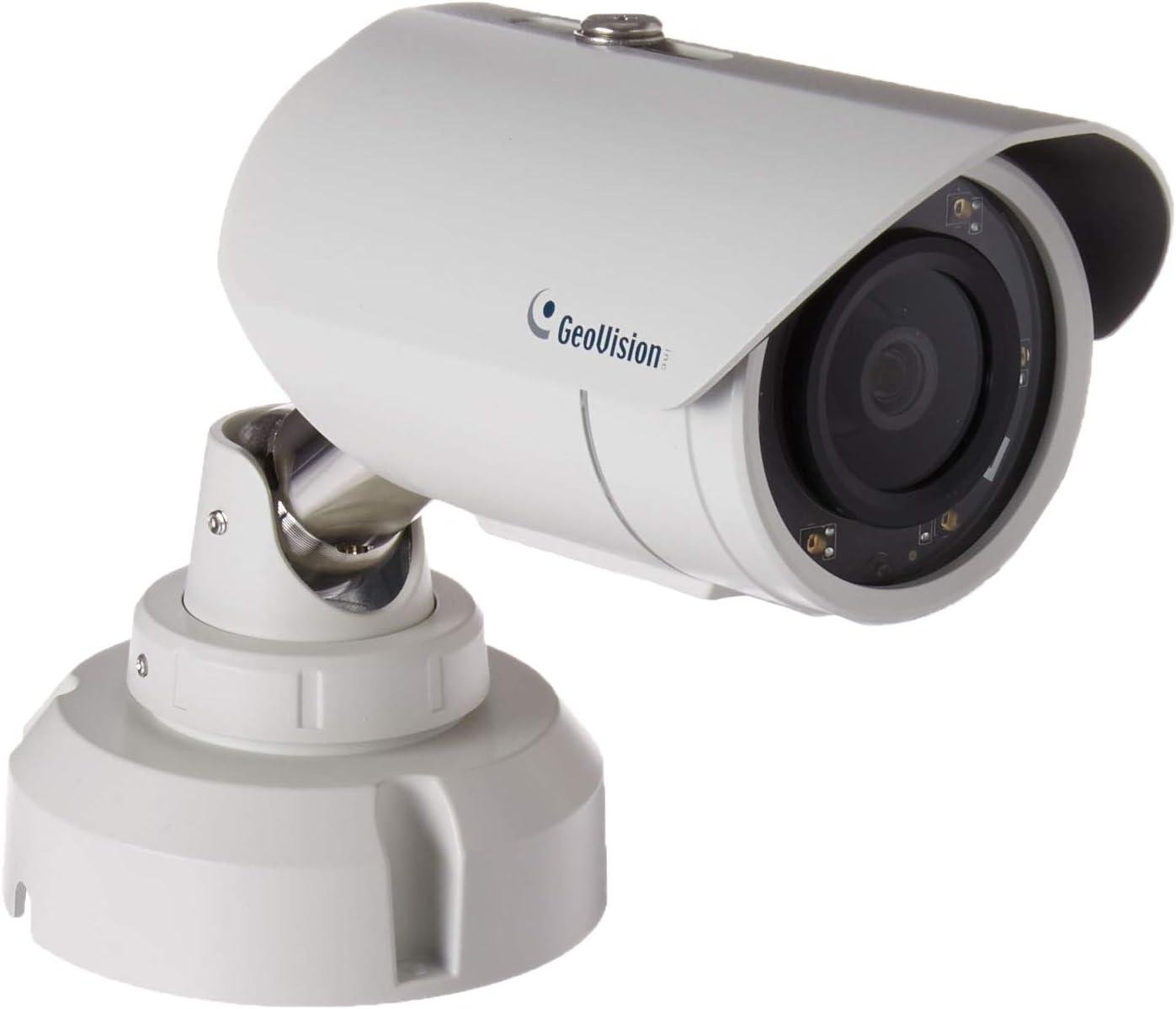 GeoVision 2MP H.265 3.8mm IR Bullet Camera, White GV-EBL2702-2F