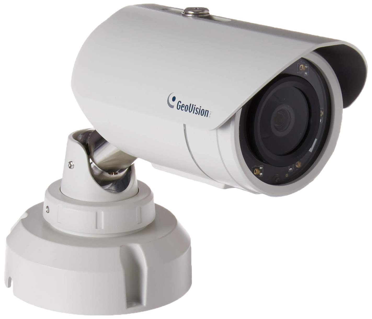 GeoVision 2MP H.265 3.8mm IR Bullet Camera, White GV-EBL2702-2F